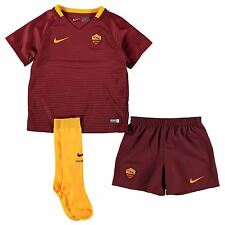 Nike AS Roma Home 2016 2017 Mini Kit Childs Red/Maroon Football Soccer