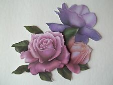 3D - U Pick - FL4 - Rose Flowers  Scrapbook Card Embellishment