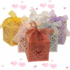 10pcs Heart Favour Box Laser Cut Wedding Sweets Favor Candy Gifts Boxes Box LIKE