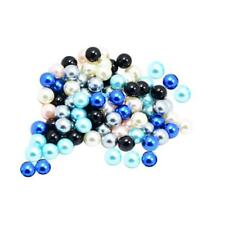 100 Pieces Round Beads Faux Pearl without Hole for Hair Accessory
