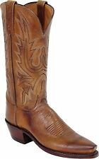 Lucchese N4540 5/4 Womens Western Boots Tan Burnished Mad Dog Goat Leather NEW