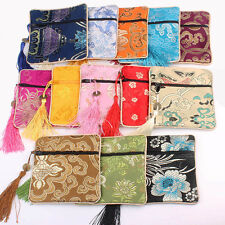 Wholesale 10pcs Square Embroidery Brocade Silk Coin Bags,Purse,Jewelry Bag