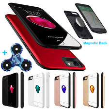 Smart Magnetic Back Power Bank Pack Battery Charger Case For iPhone 6 6S 7 Plus