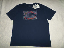 LUCKY BRAND T-SHIRT MENS SIZE XXL SHORT SLEEVE CREWNECK NAVY COLOR NEW WITH TAGS