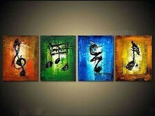 Wall Decor Hand-Painted Art Oil Painting Music Abstract Canvas Framed Decoration