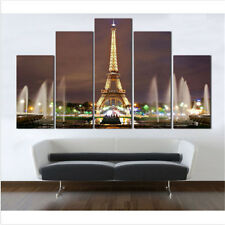 Canvas Home Decor Oil Painting Eiffel Tower Wall Art Painting With Framed