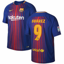 Nike FC Barcelona 2017 - 2018 Suarez # 9 Home Soccer Jersey Brand New Red / Blue