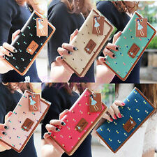 Fashion New Women PU Leather Wallet Long Card Holder Handbag Bag Clutch Purse 2P
