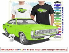 CLASSIC 71-72 VH VALIANT CHARGER ILLUSTRATED T-SHIRT MUSCLE RETRO SPORTS CAR