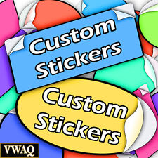 Full Color Stickers Pack of 100 Your Logo Design Vinyl Sticker Prints VWAQ-MM248