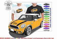 CLASSIC 2011 MINI COOPER S ILLUSTRATED T-SHIRT MUSCLE RETRO  CAR