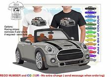 CLASSIC 2016 MINI COOPER S CONVERTIBLE ILLUSTRATED T-SHIRT MUSCLE RETRO  CAR