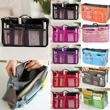 Portable Travel Insert Handbag Women Organizer Purse Large liner Tidy Bag Pouch