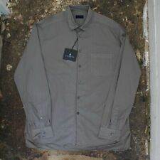New Mens Lanvin Overdyed Grey Shirt Double Chest Pocket Size 43 BNWT RRP £245