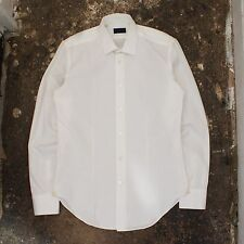 New Mens Lanvin Smart Dress Shirt in White Size 38 NWOT RRP £205