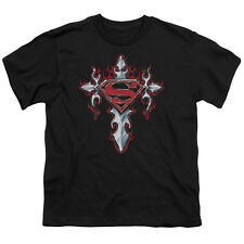 Superman GOTHIC STEEL LOGO Licensed  Youth T-Shirt S-XL