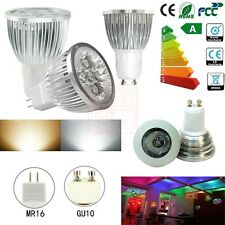 12pcs/4pcs GU10 / MR16 LED LAMPS 6W HIGH POWER RGB DAY / WARM WHITE LIGHT BULBS