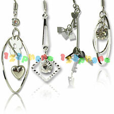 1 PAIR NEW WOMEN FASHION STEEL EAR STUD DANGLE HOOK EARDROP EARRING JEWELRY