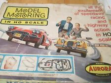 Vintage 1960's Aurora Model Motoring Slot Car Track With Box.