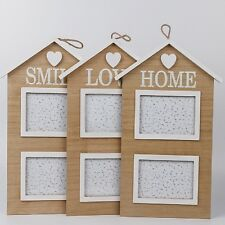House Wooden Love Family Photo Frame Home Wall Hanging Picture Holder Display