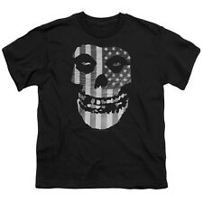 Misfits Band FIEND SKULL US FLAG Licensed  Youth T-Shirt S-XL