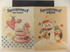 Snickerdoodles Winter & Tea Party Christmas Decorative Tole Painting Lot of 2
