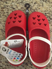 CROCS Girls Red White Disney Minnie Mouse Mary Jane crocs J 1 / 3 rare WDW NEW