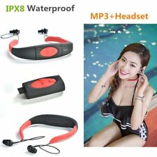 New Askmeer 3M Waterproof Sport Stereo 4GB MP3 Player Headset with FM Radio Rech