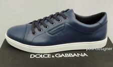 Dolce & Gabbana Blue London Leather Sneakers Trainers UK10 &11 EU44 &45 /US11 12