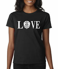 New Way 146 - Women's T-Shirt Love Police Cops Law Enforcement