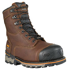 Timberland Pro 89635 Boondock 8-Inch Mens Brown Waterproof Soft Toe Work Boots