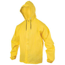 O2 Rainwear Hooded Rain Jacket with Drop Tail: Yellow 2XL