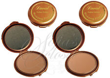 Laval Mirror Compact Bronzing Tan Powder Carry Sweep Bronze Face Body Shimmer