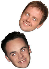 Celebrity Face Masks Ant and Dec Card BGT Party Hosts Geordie Lads Joke Jungle