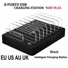 8 Ports Desktop USB Charger 96W Multi-Function USB Charging Station Dock with St