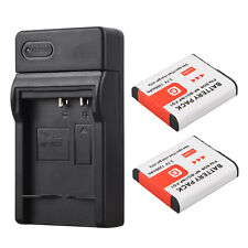 2x 1300mah Replacement Li-ion Battery + USB Charger For NP-BG1 NP-FG1 DSC-H3