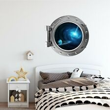 PortScape Exploding Star Porthole Window Wall Decal Sticker Graphic Vinyl Space