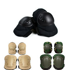 4X Adjustable Knee Elbow Protective Pad Protector Gear Sports Tactical Combat