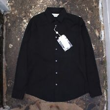 NEW Maison Martin Margiela Smart Black Stretch Cotton Shirt Size 54 BNWT RRP£145