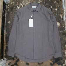 NEW Maison Martin Margiela Heavy Cotton French Cuff Shirt in Grey BNWT RRP £285