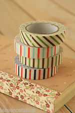 shabby chic pretty colorful kawaii OBLIQUE LINE striped Fabric deco sticky tape