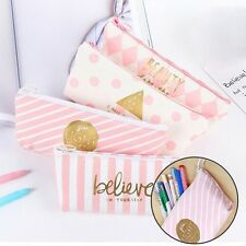 Kawaii Pencil Pen Case Box Cosmetic Makeup Pouch Pocket Brush Holder Bag 1pc New