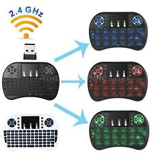 2.4GHz Mini Backlit Wireless Keyboard Touchpad Air Mouse F/ PC TV Android Y0S7
