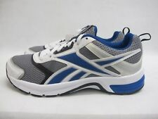 Mens Reebok Pheehan Running Sport Shoes Grey Blue White Lace Up Mesh Trainers