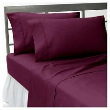 Extra Deep Pocket 4 pc OR 6 pc Sheets Set 1000 TC Egyptian Cotton Wine Solid