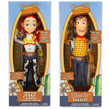 DISNEY TALKING TOY STORY SHERIFF WOODY JESSIE SOFT DOLL ACTION FIGURES PLAYSET