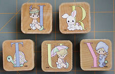 """PRECIOUS MOMENTS """"MONOGRAM LETTER INITIALS & DESIGN""""  RUBBER STAMPS ~ YOUR PICK!"""