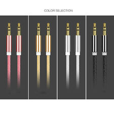 6Color 3.5mm Male to Male Cord Aux Audio Stereo Cable For iPod MP3 Car Phone Hot