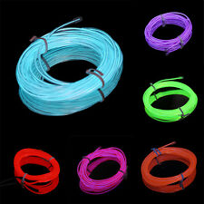 1-5M Colorful Flexible EL Wire Tube Rope Neon Light Glow Controller Decor SO