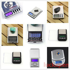 Stainless steel 500g 0.1g Digital Electronic LCD Jewelry Pocket Weight Scale SO